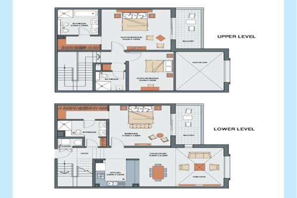 Duplex apartment floor plans best home design 2018 for Duplex apartment plans